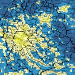 Neue Karten: Lichtemissionen im Kanton Zürich